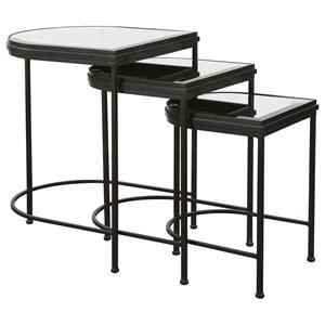 Black Nesting Tables, S/3