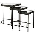 Uttermost Accent Furniture - Occasional Tables Black Nesting Tables, S/3 - Item Number: 24965