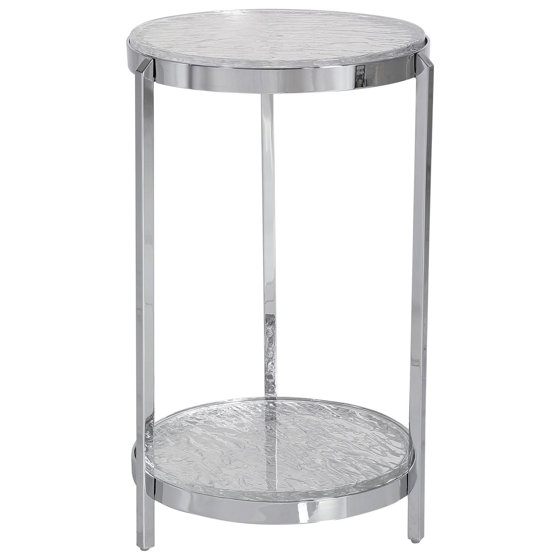 Accent Furniture - Occasional Tables Clarence Textured Glass Accent Table by Uttermost at Suburban Furniture
