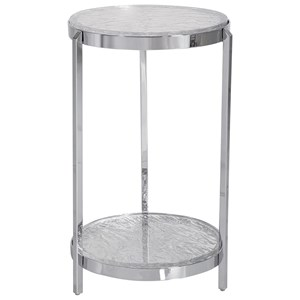 Clarence Textured Glass Accent Table