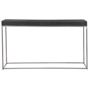 Black Concrete Console Table