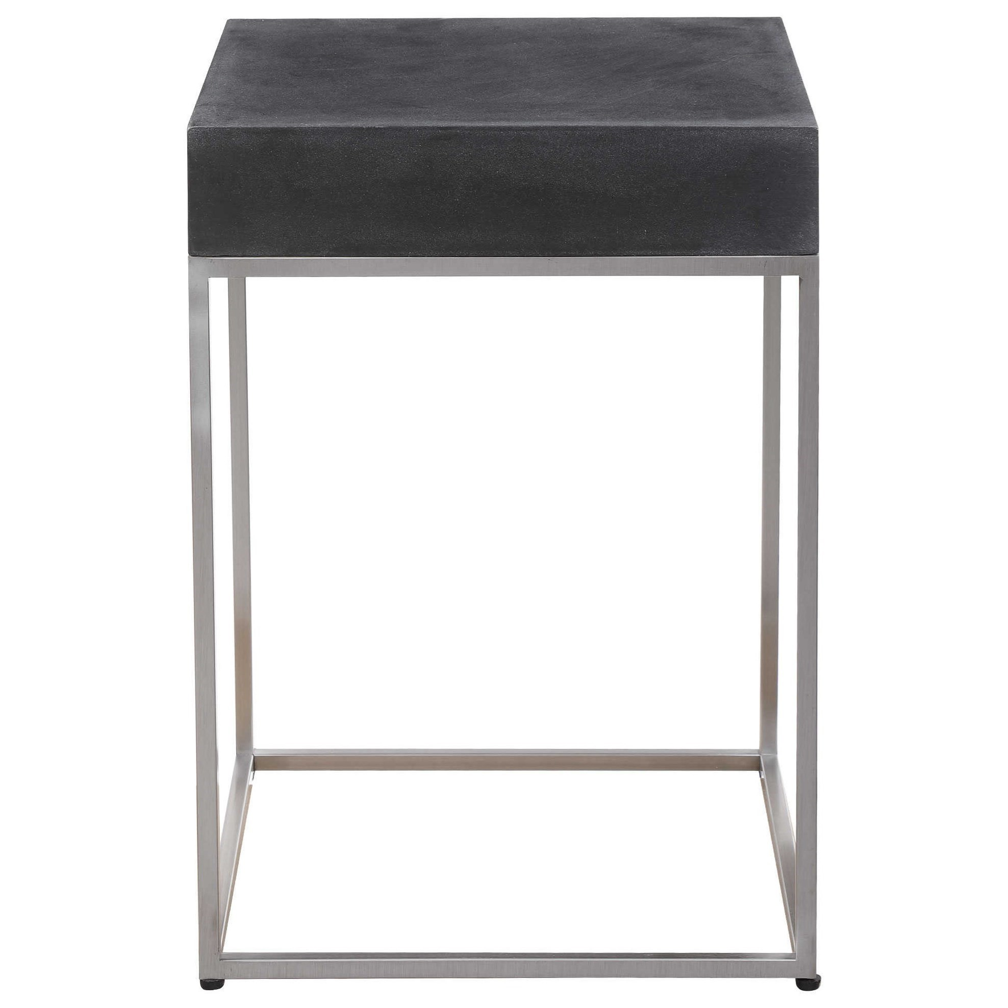 Accent Furniture - Occasional Tables Black Concrete Accent Table by Uttermost at Dunk & Bright Furniture