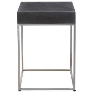 Black Concrete Accent Table