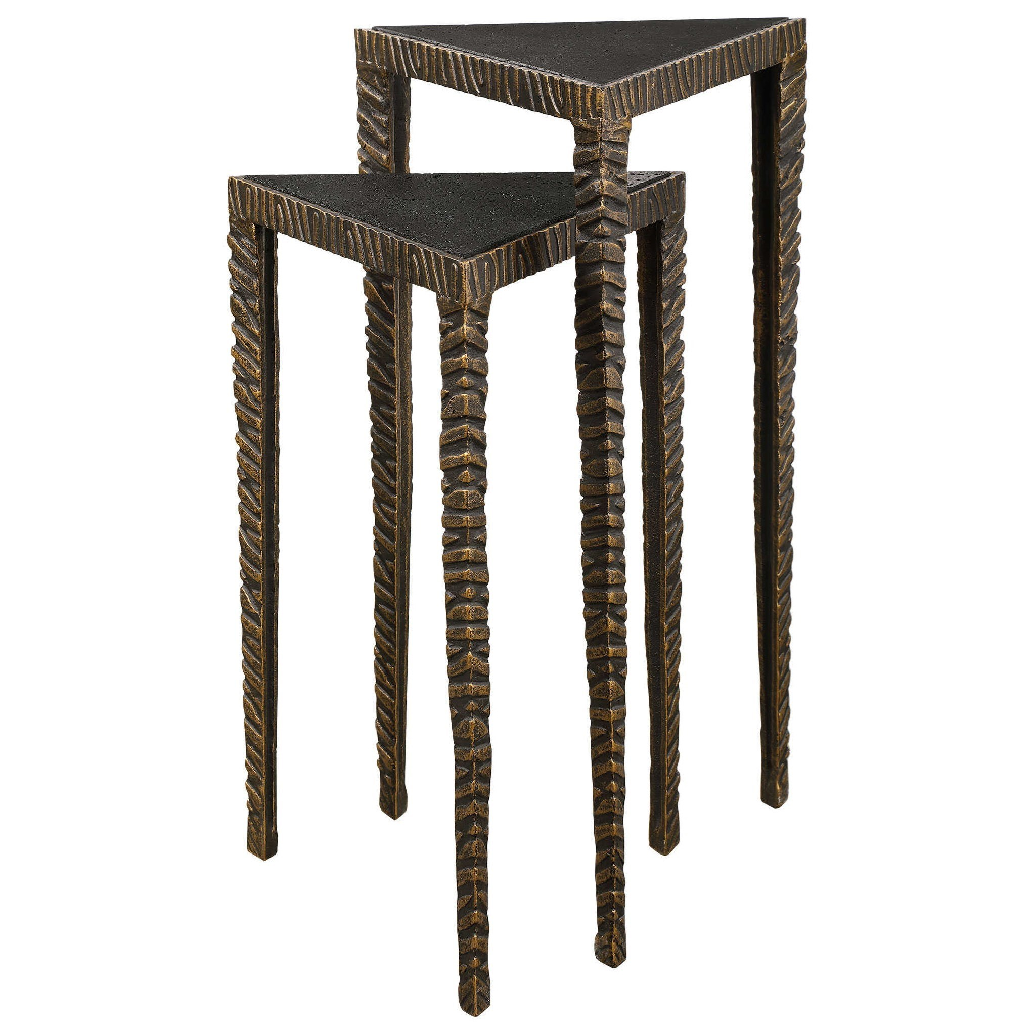 Accent Furniture - Occasional Tables Triangular Accent Tables, S/2 by Uttermost at Factory Direct Furniture