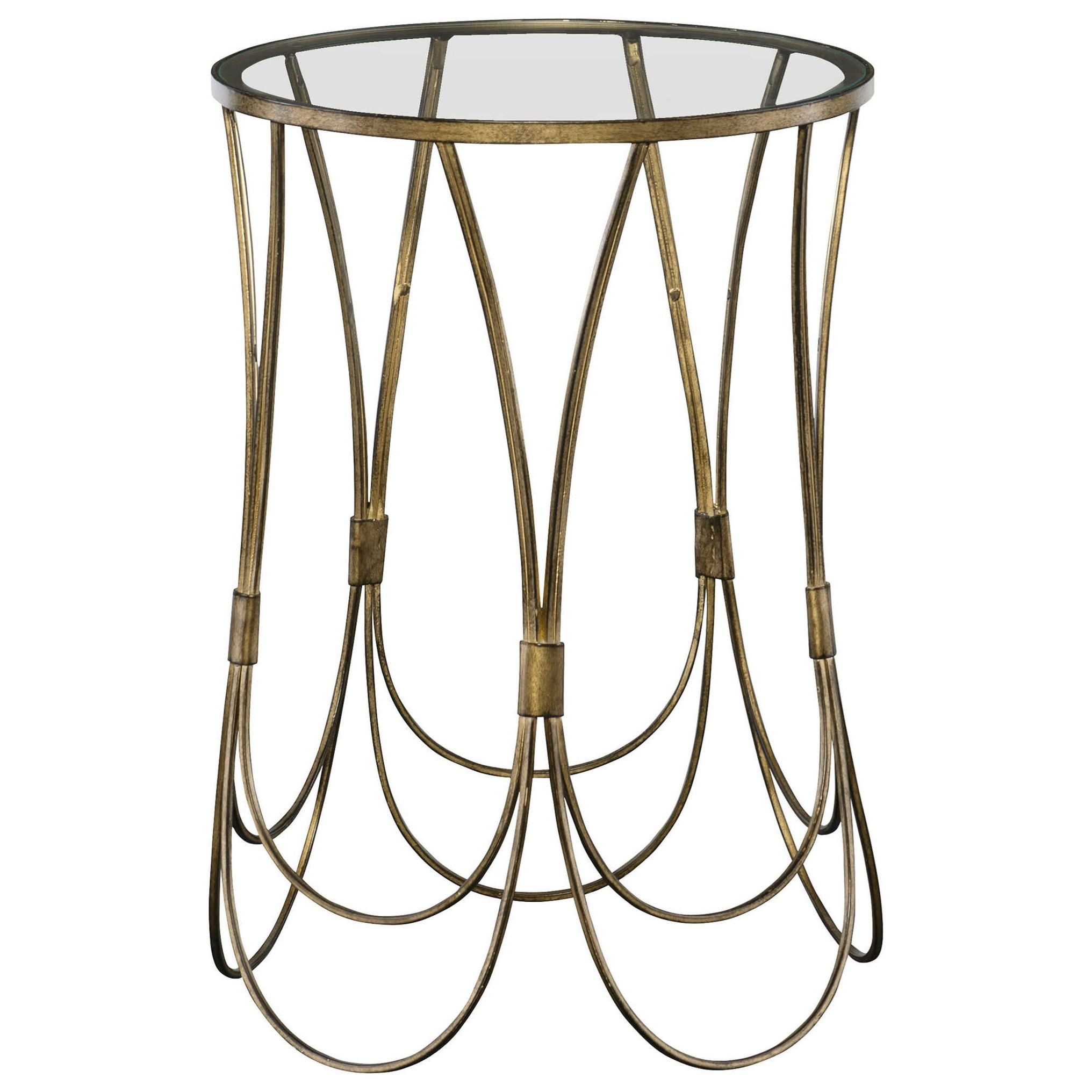 Accent Furniture - Occasional Tables Kalindra Gold Accent Table by Uttermost at Del Sol Furniture