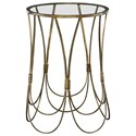 Uttermost Accent Furniture - Occasional Tables Kalindra Gold Accent Table - Item Number: 25056