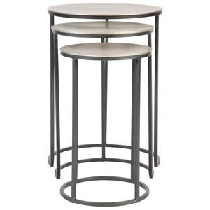 Erik Metal Nesting Tables, S/3