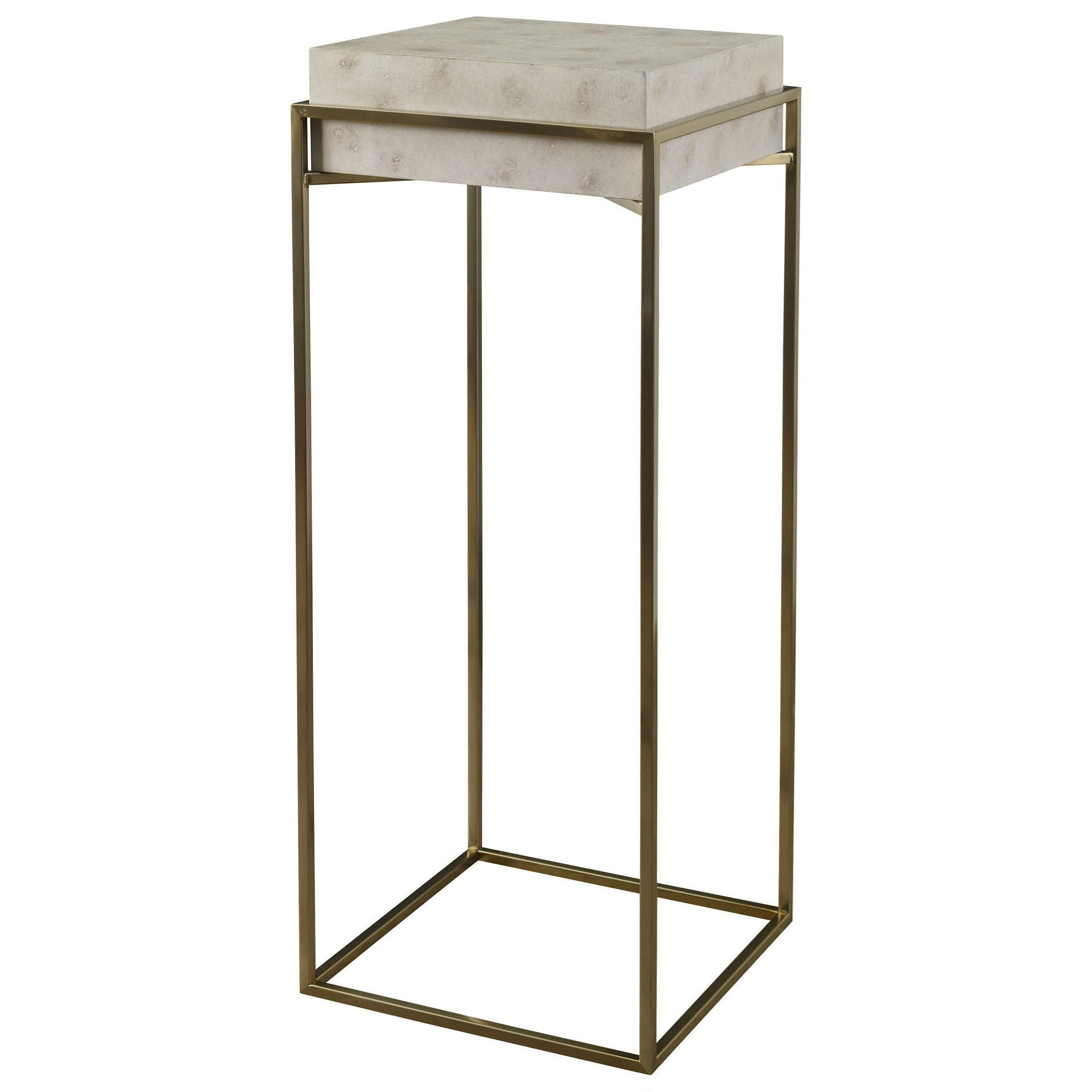 Accent Furniture - Occasional Tables Inda Modern Ivory Plant Stand by Uttermost at Del Sol Furniture