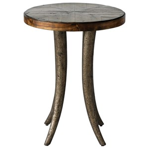 Ezra Round Accent Table