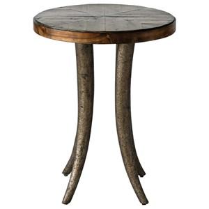 Ezra Round Accent Table
