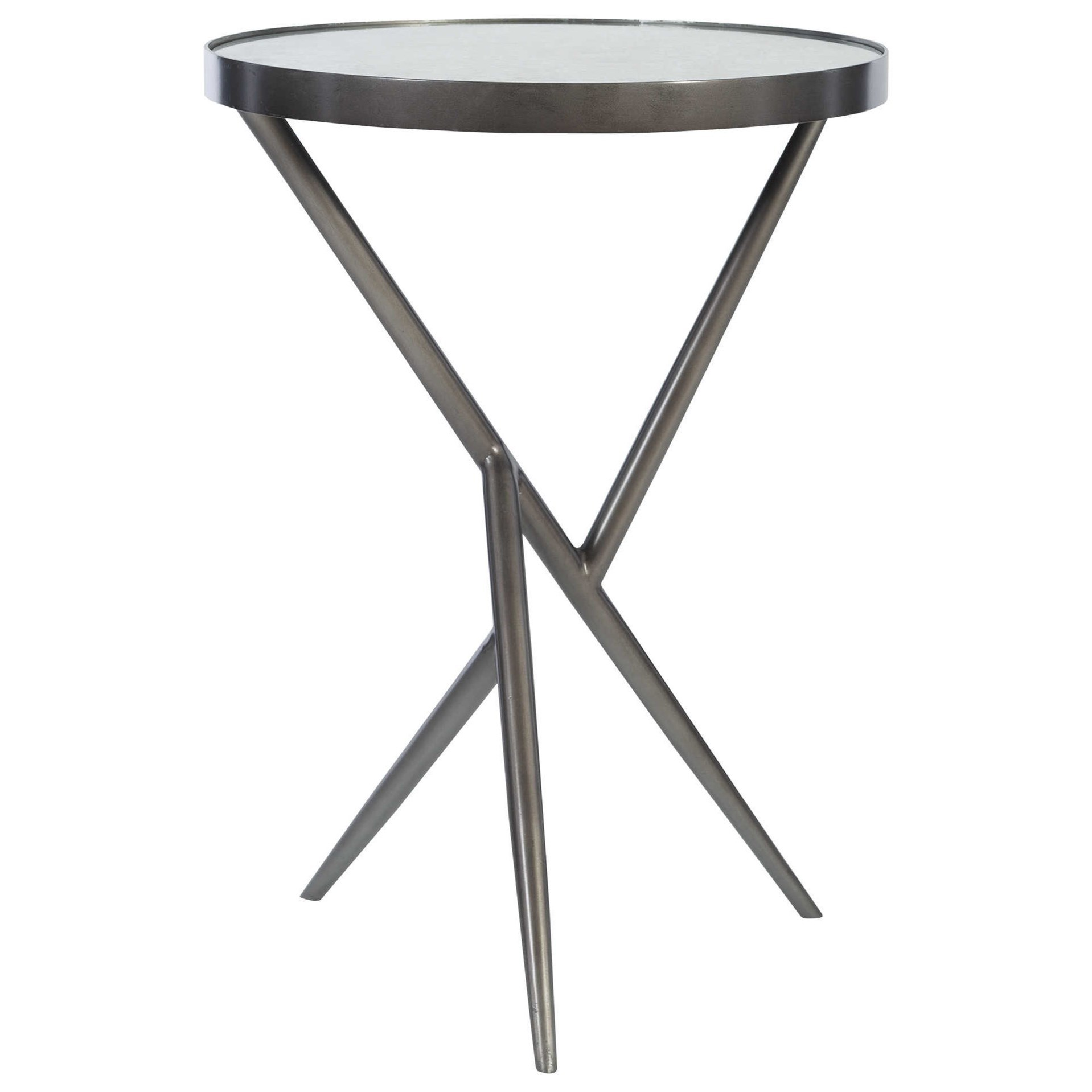 Accent Furniture - Occasional Tables Absalom Round Accent Table by Uttermost at Upper Room Home Furnishings