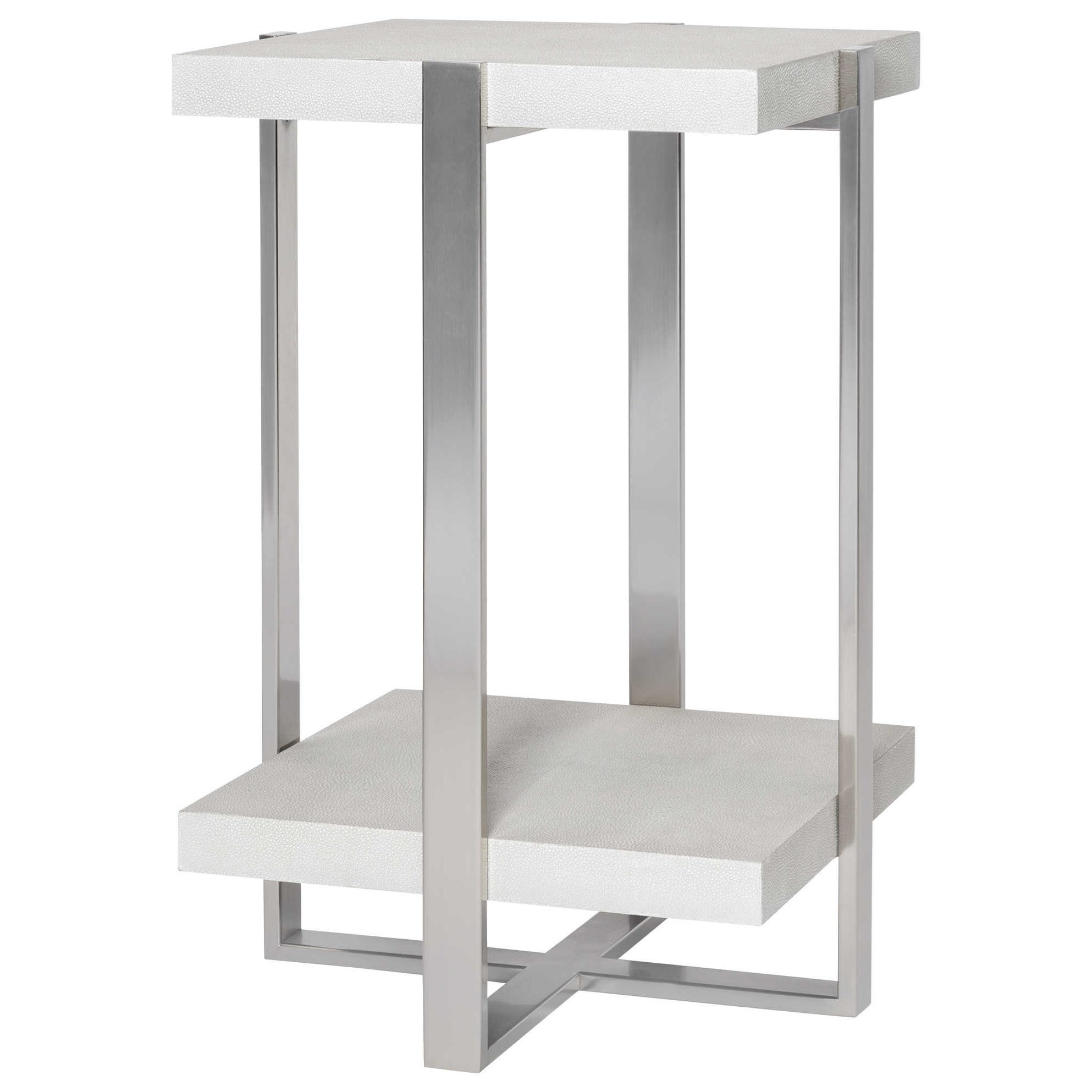 Accent Furniture - Occasional Tables Arnaut White Accent Table by Uttermost at Dunk & Bright Furniture