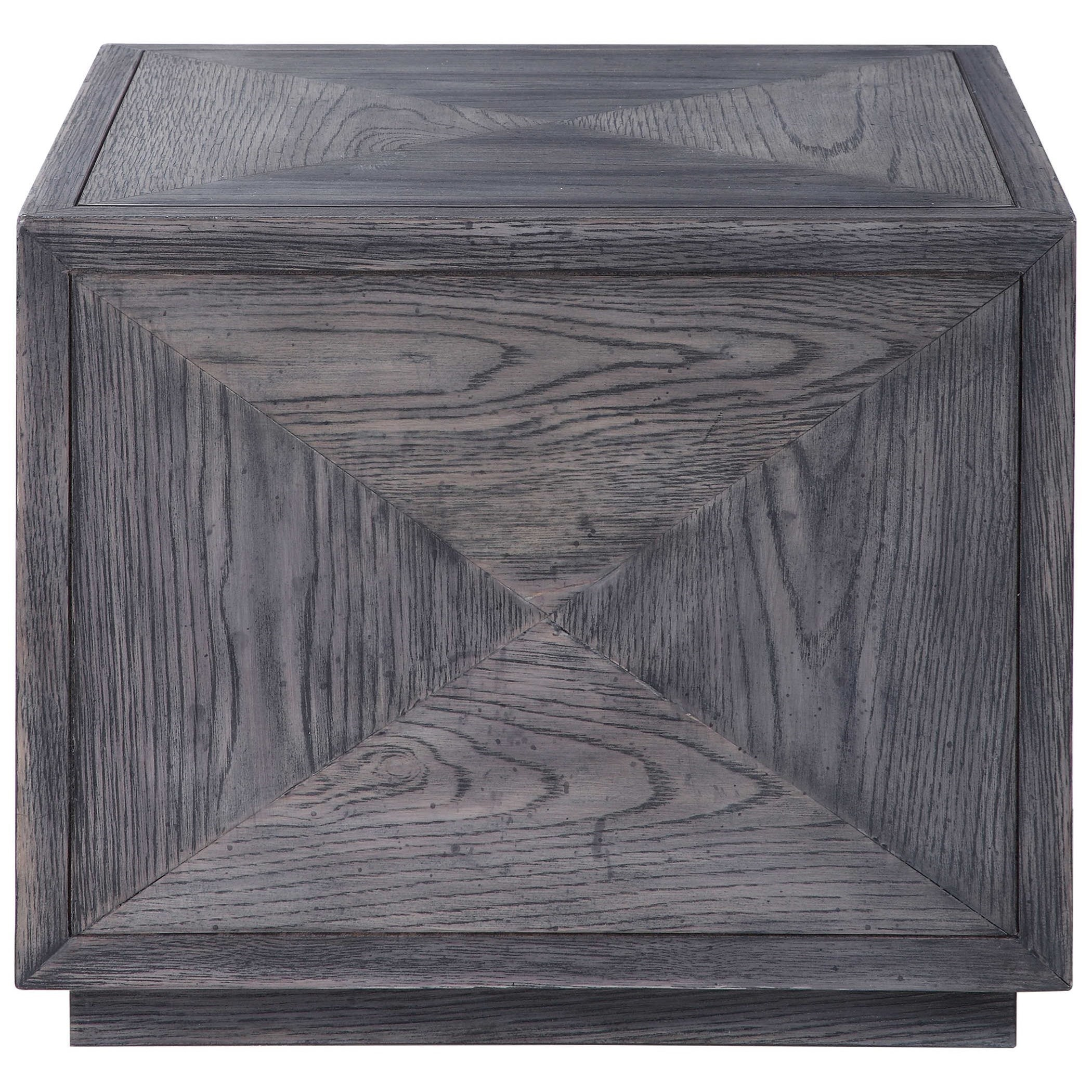 Accent Furniture - Occasional Tables Curtley Wooden Cube Table by Uttermost at Goffena Furniture & Mattress Center