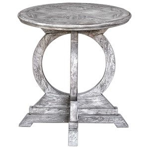 Maiva White Accent Table