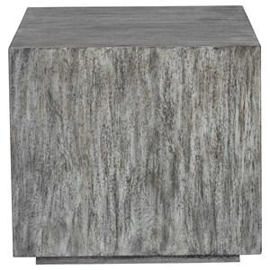 Kareem Modern Gray Side Table