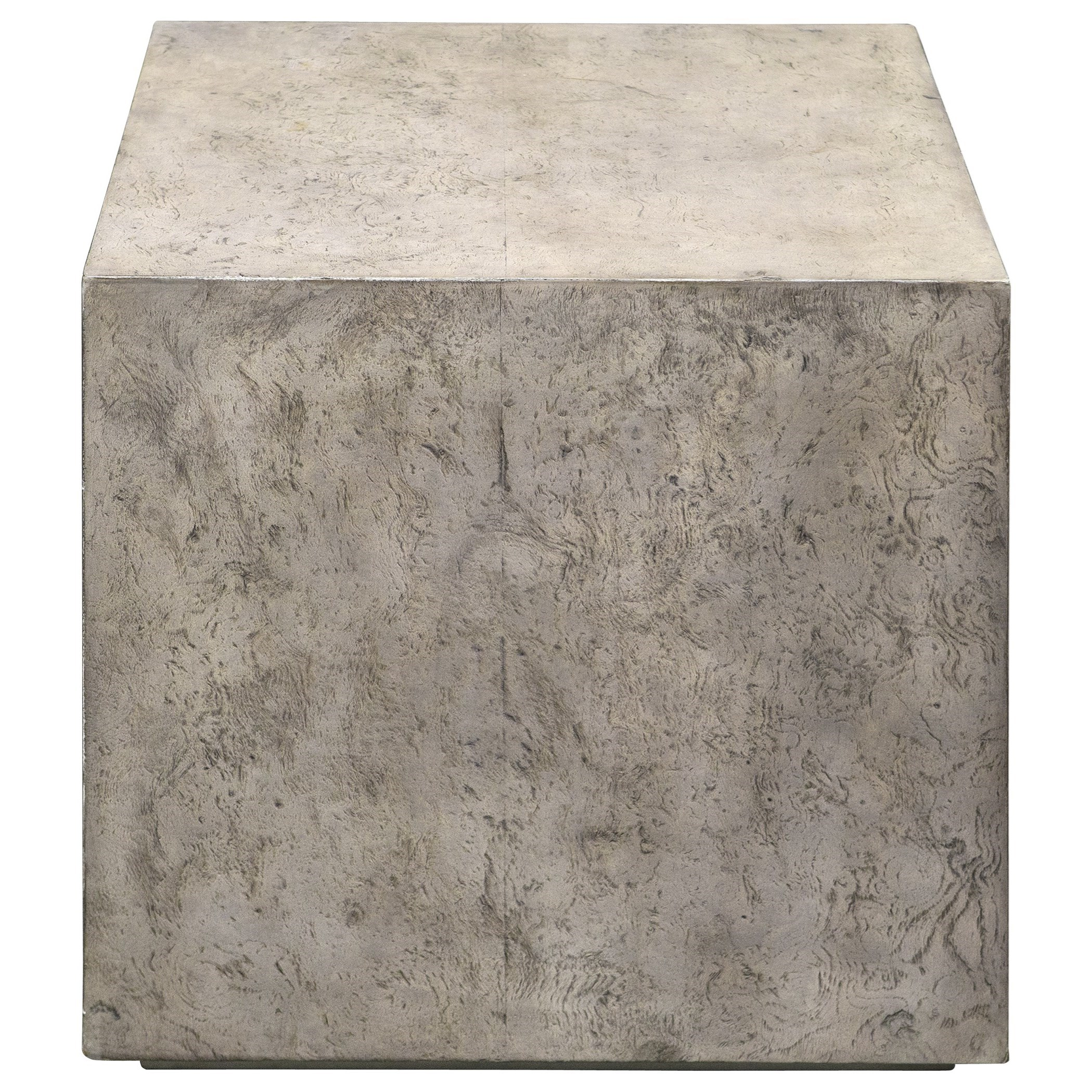Accent Furniture - Occasional Tables Kioni Gray Cube Table by Uttermost at Dream Home Interiors
