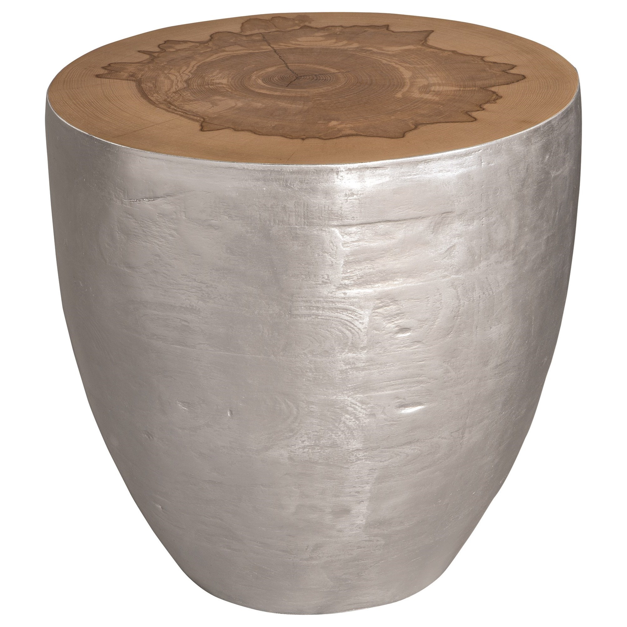 Accent Furniture - Occasional Tables Gannett Silver Wood End Table by Uttermost at Factory Direct Furniture