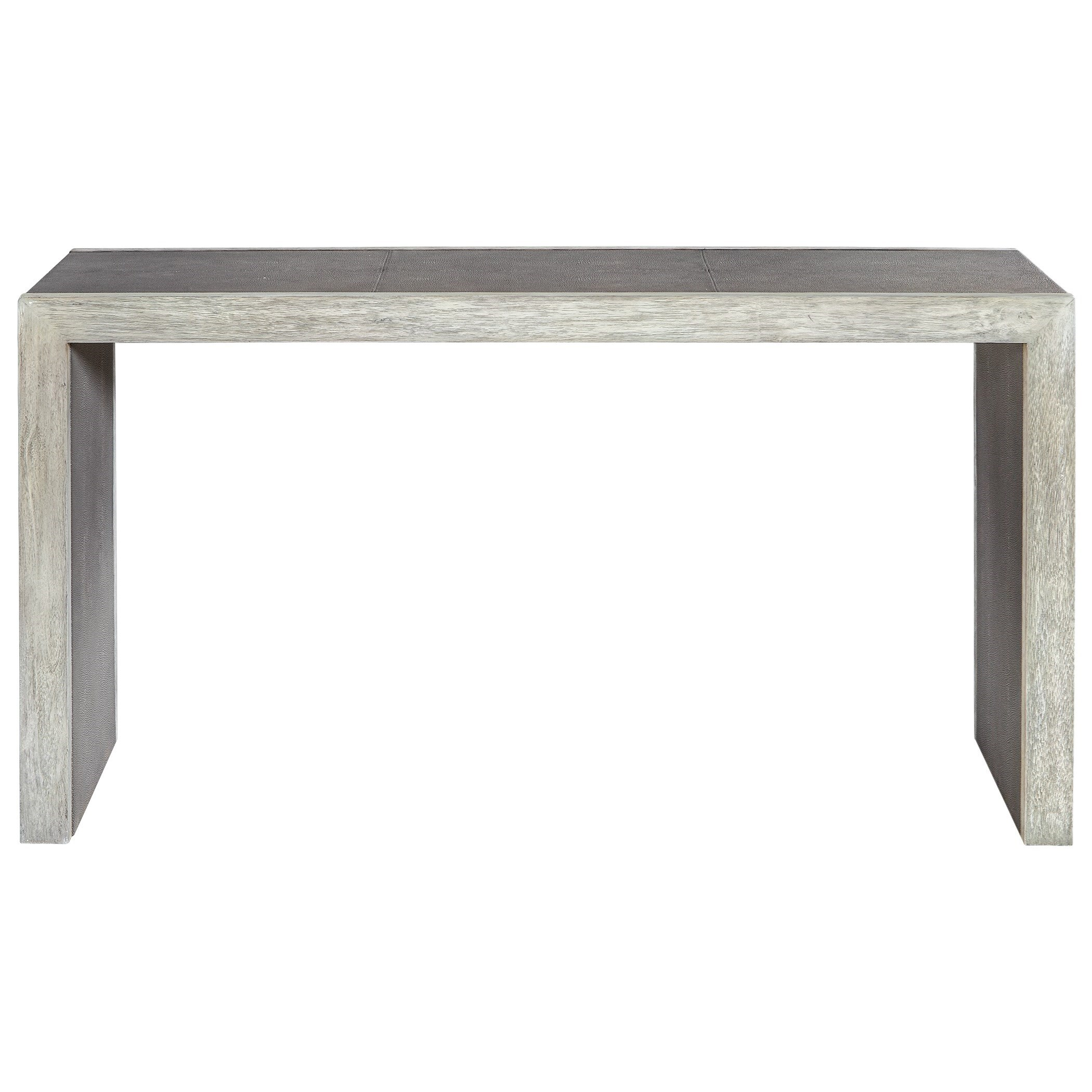 Accent Furniture - Occasional Tables Aerina Aged Gray Console Table by Uttermost at Dunk & Bright Furniture