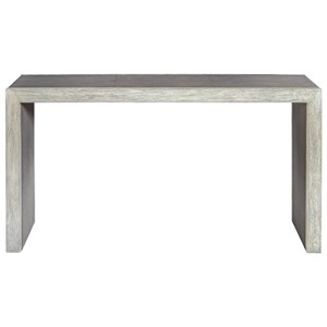 Aerina Aged Gray Console Table