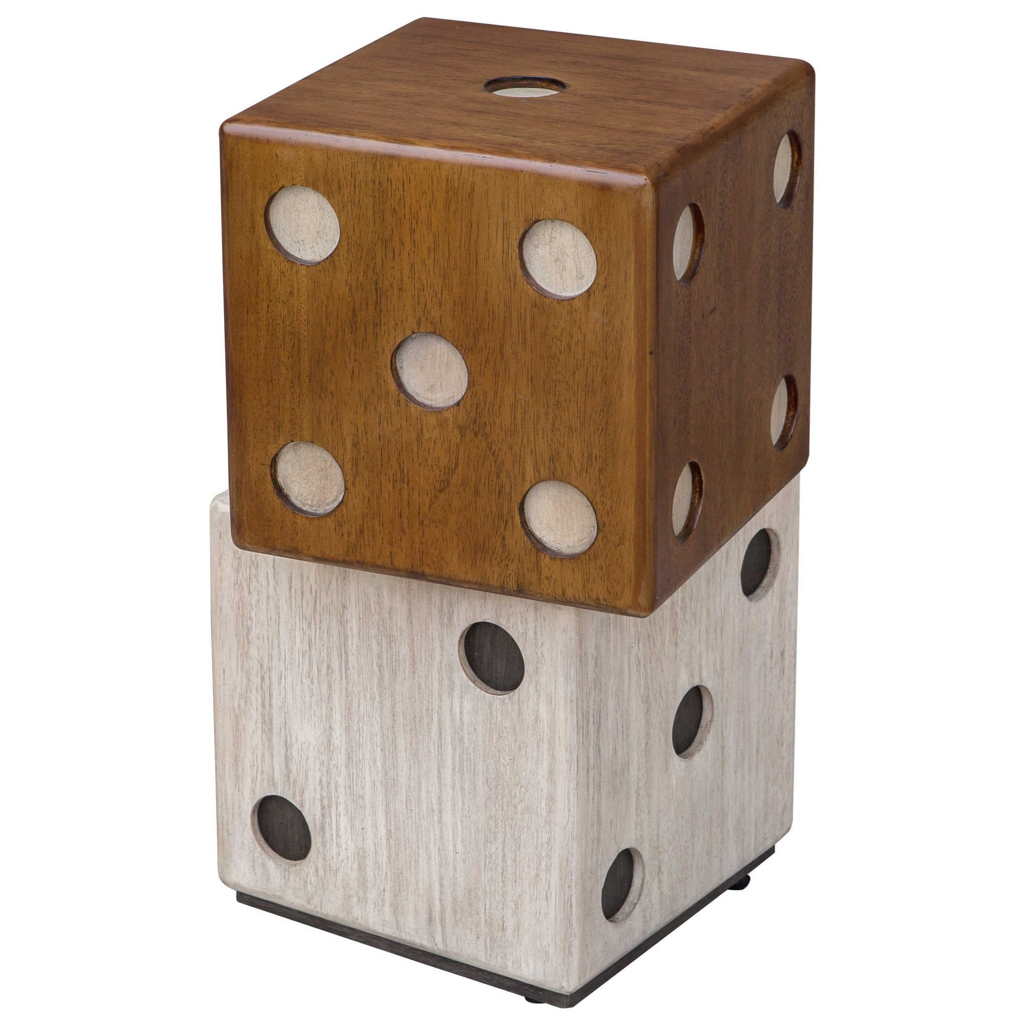 Accent Furniture - Occasional Tables Roll The Dice Accent Table by Uttermost at Goffena Furniture & Mattress Center
