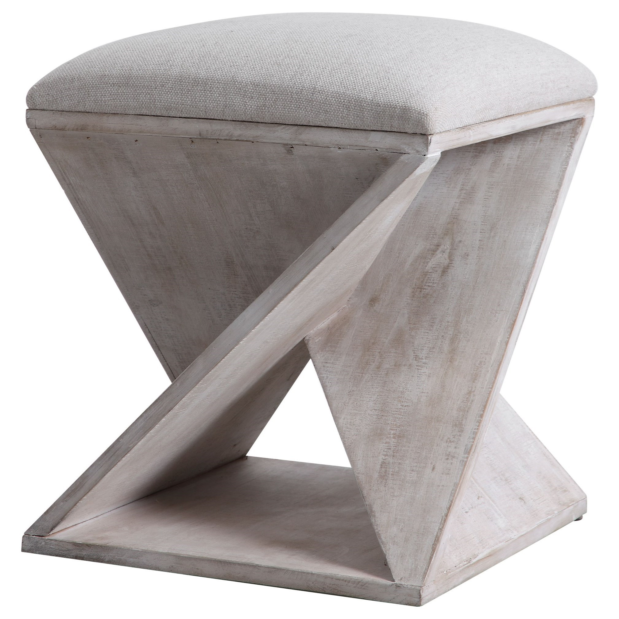 Accent Furniture - Ottomans Benue Gray Ottoman by Uttermost at Dunk & Bright Furniture