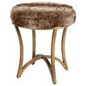 Uttermost Accent Furniture - Stools Bernett Fur Accent Stool - Item Number: 23497
