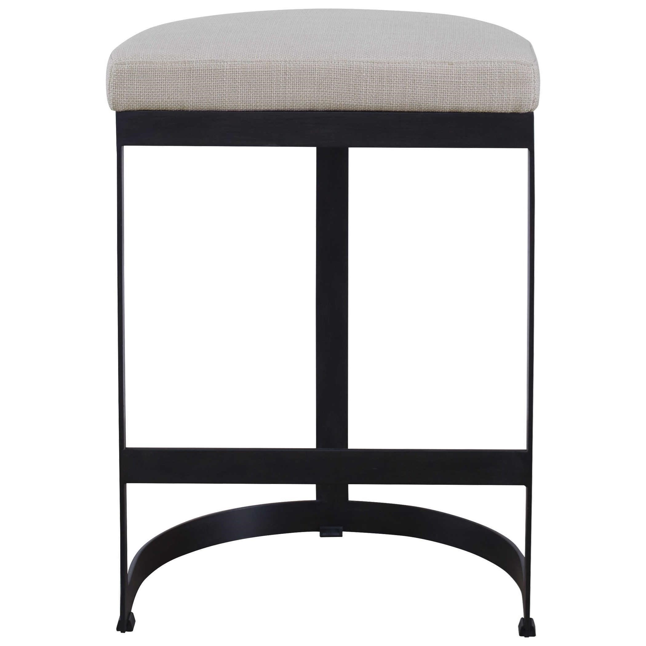 Accent Furniture - Stools Ivanna Black Iron Counter Stool by Uttermost at Mueller Furniture