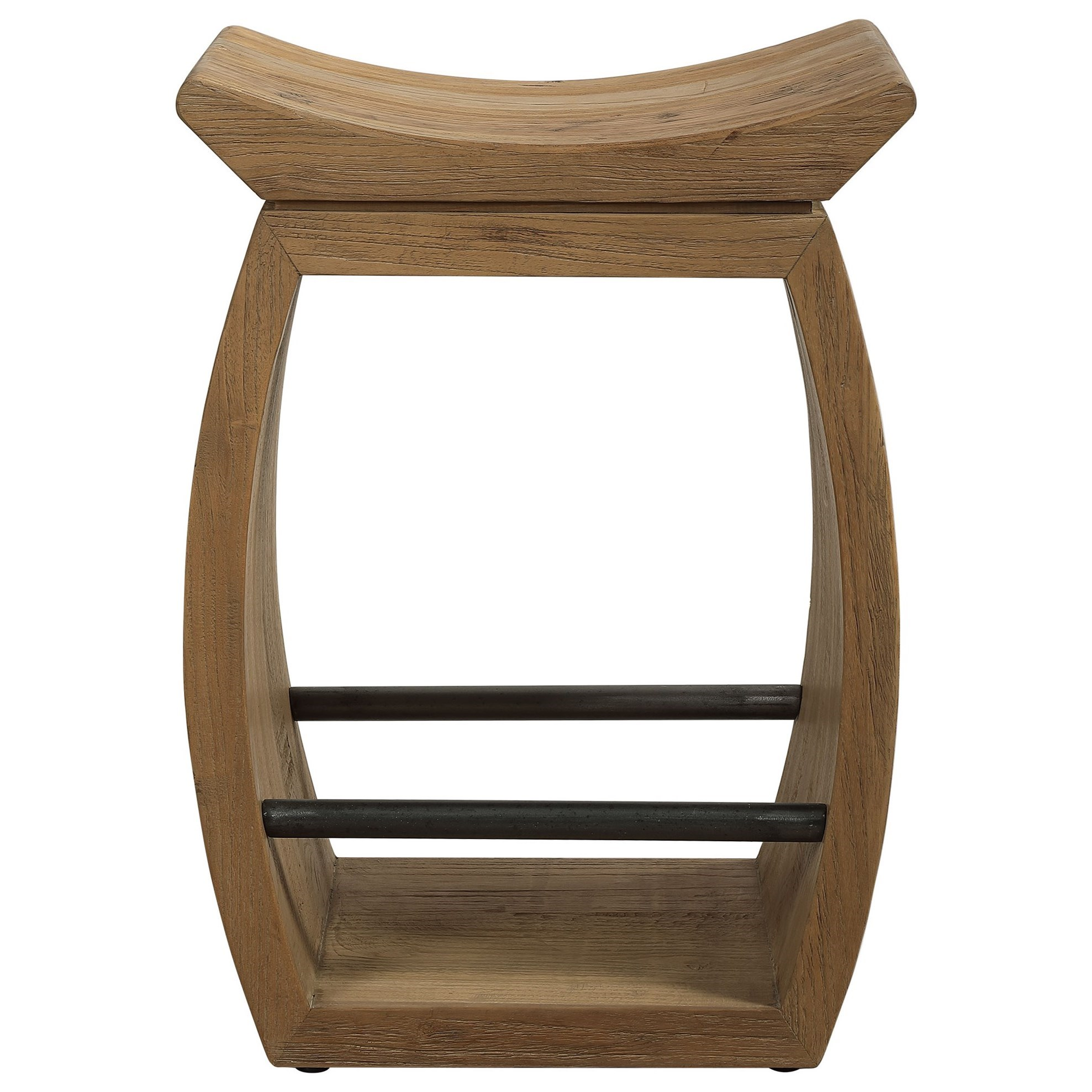 Accent Furniture - Stools Connor Modern Wood Counter Stool by Uttermost at Goffena Furniture & Mattress Center