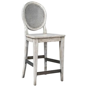 Clarion Aged White Counter Stool