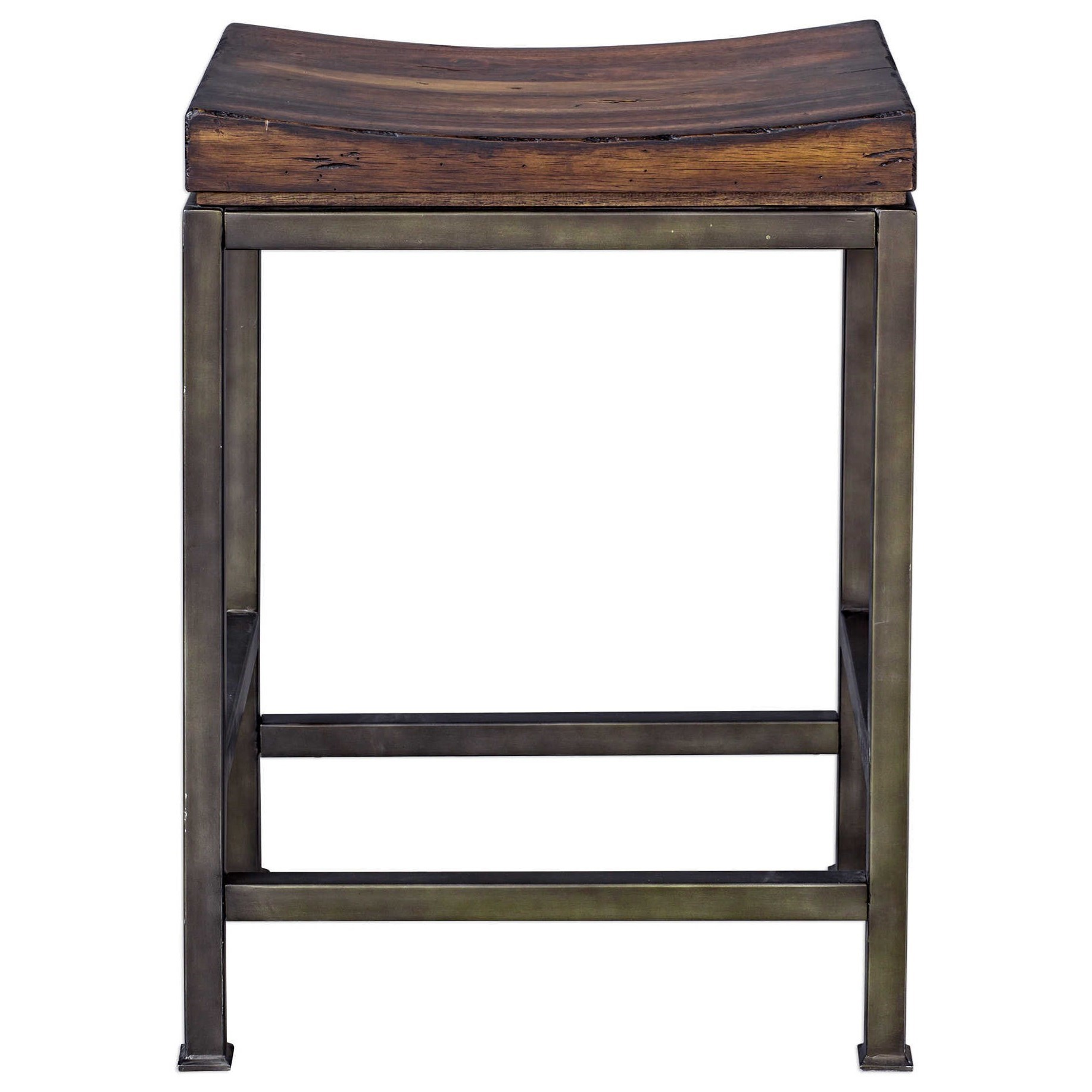 Accent Furniture - Stools Beck Wood Counter Stool by Uttermost at Suburban Furniture
