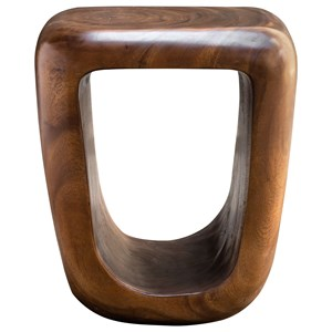 Loophole Wooden Accent Stool
