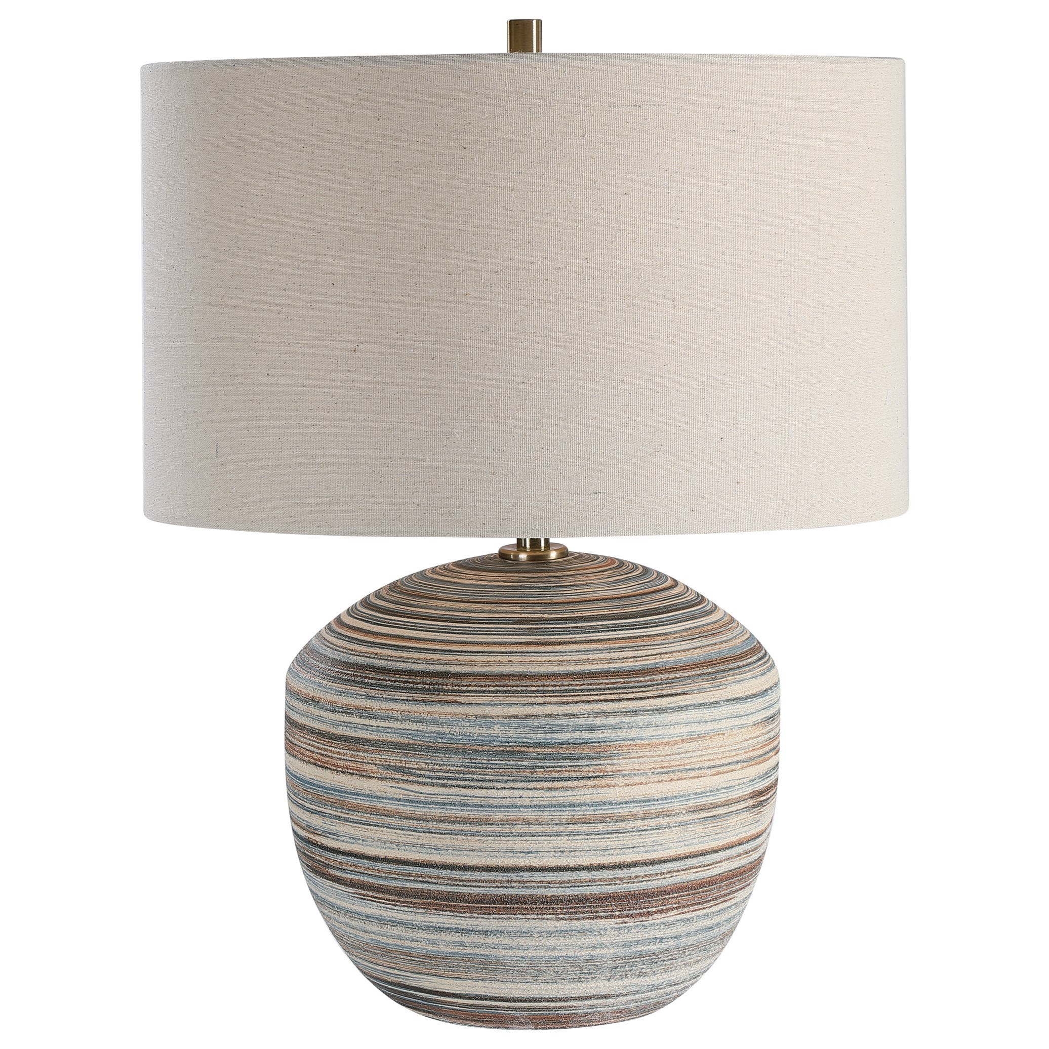 Accent Lamps Prospect Striped Accent Lamp by Uttermost at Del Sol Furniture