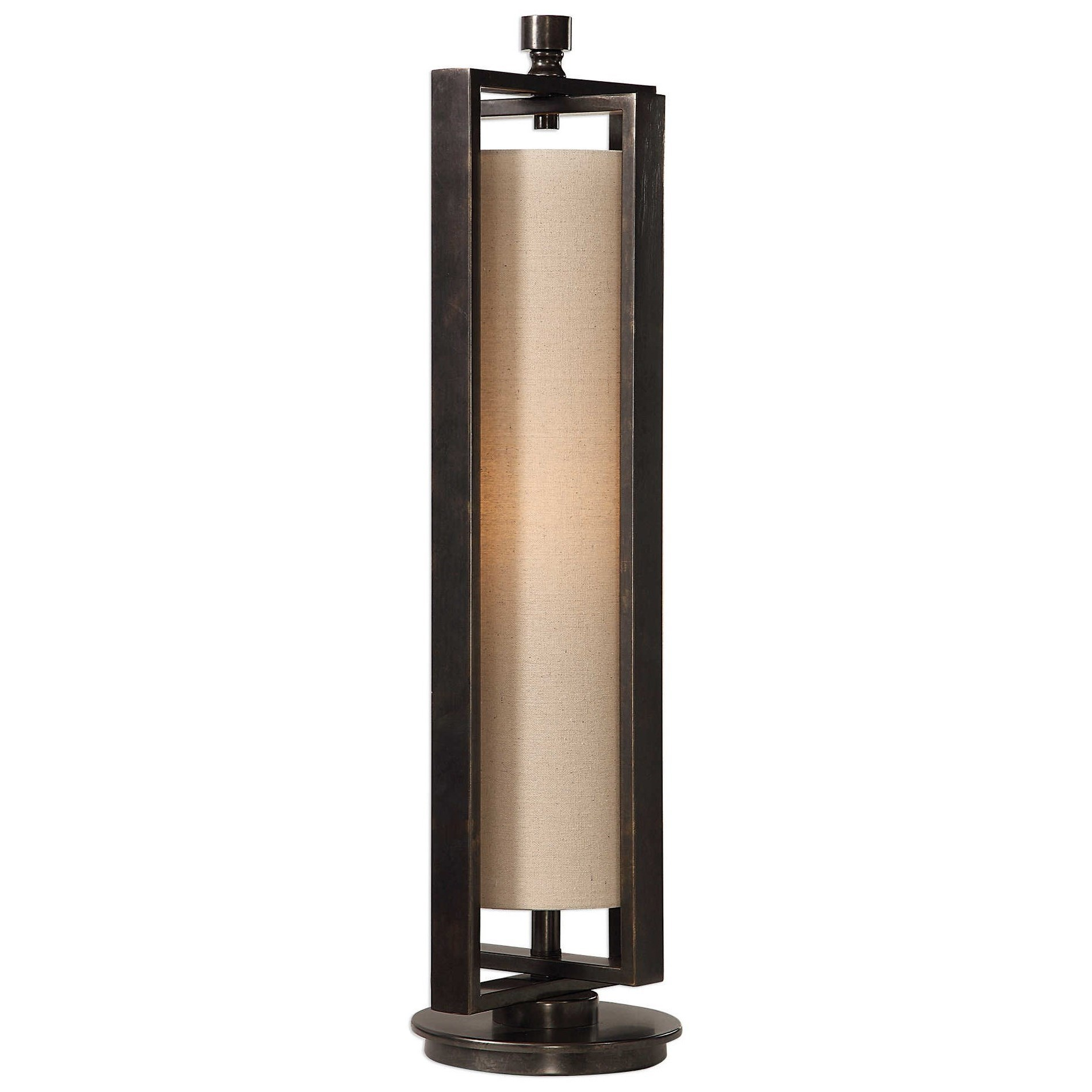 Gun Metal Accent Lamp