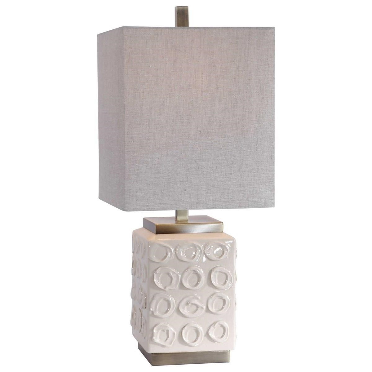 Accent Lamps Emeline White Accent Lamp by Uttermost at Dunk & Bright Furniture