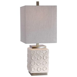 Emeline White Accent Lamp