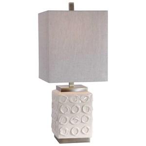 Emeline White Accent Lamp