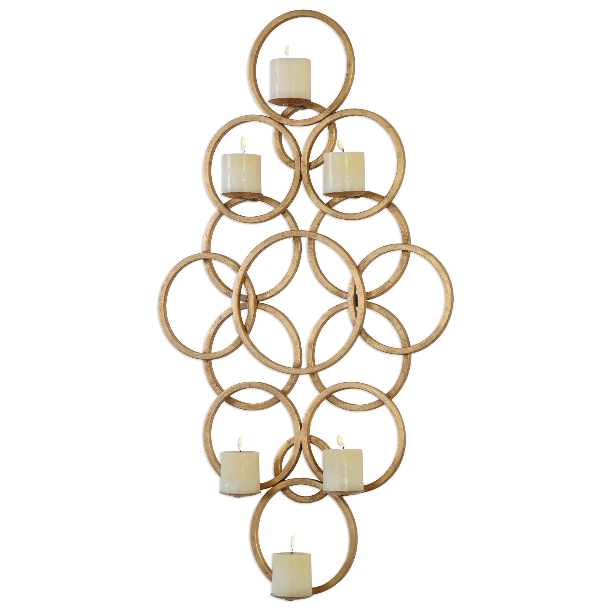 Uttermost Accessories  Coree Gold Rings Wall Sconce - Item Number: 04070