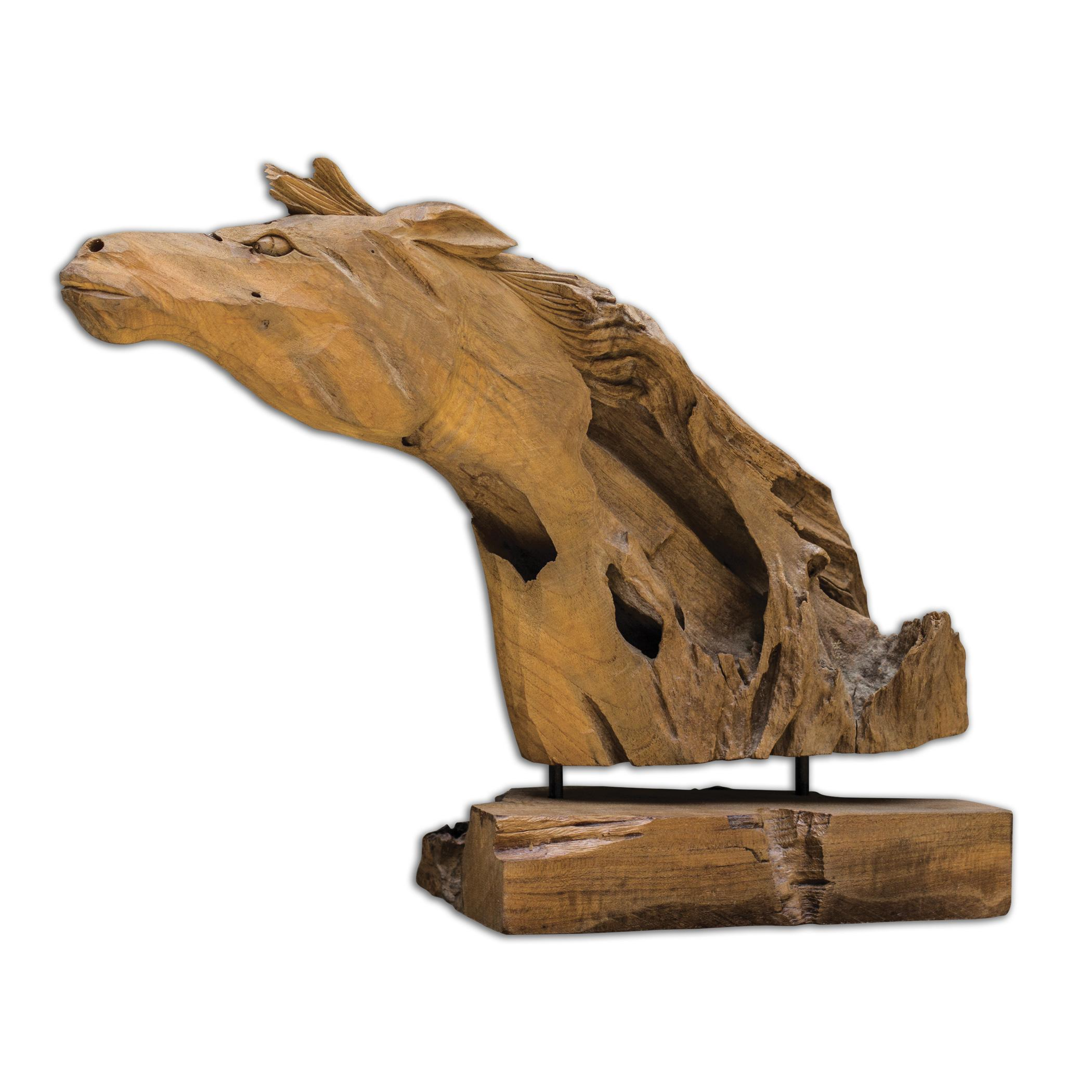 Uttermost Accessories Teak Horse Sculpture - Item Number: 17083
