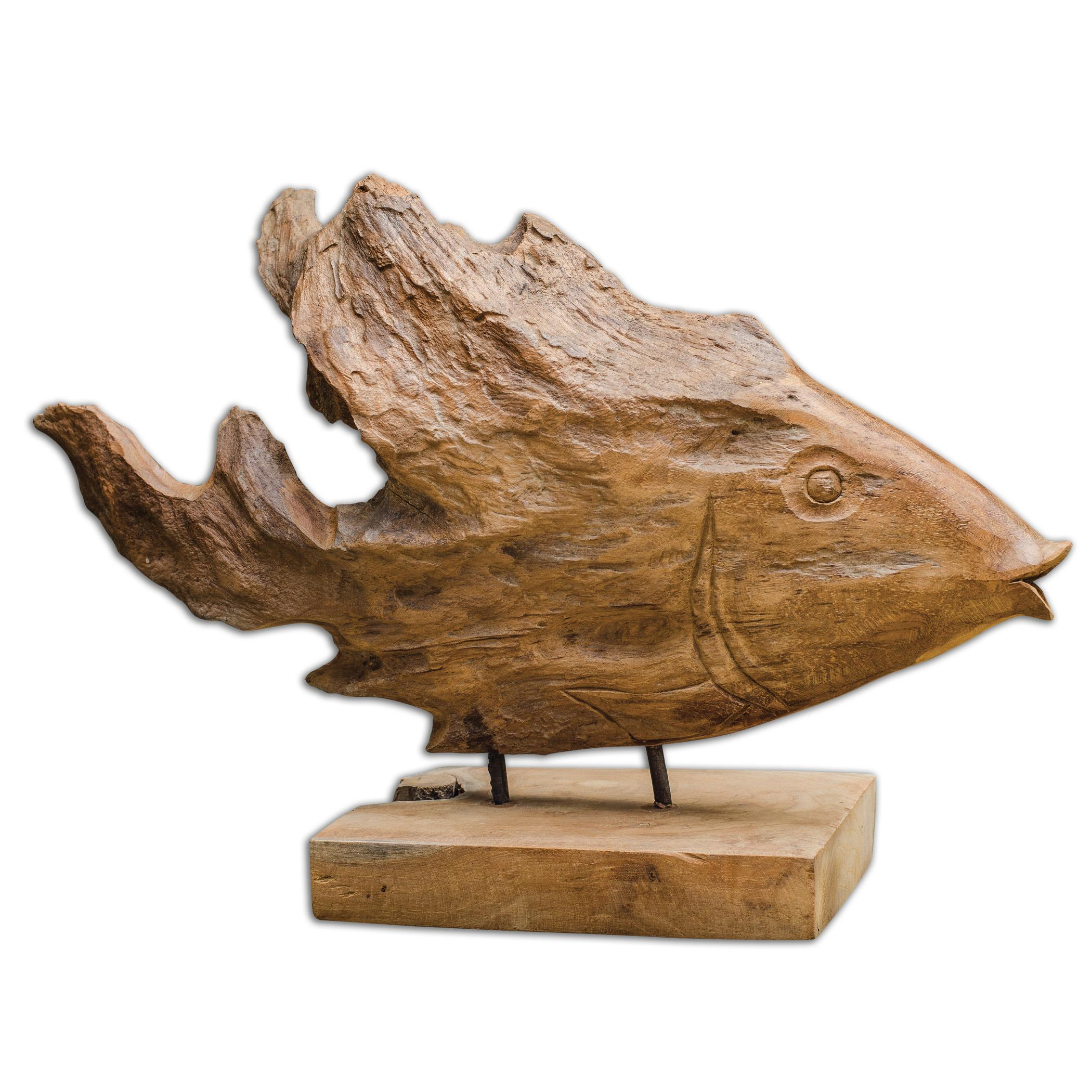 Uttermost Accessories Teak Fish Sculpture - Item Number: 17084