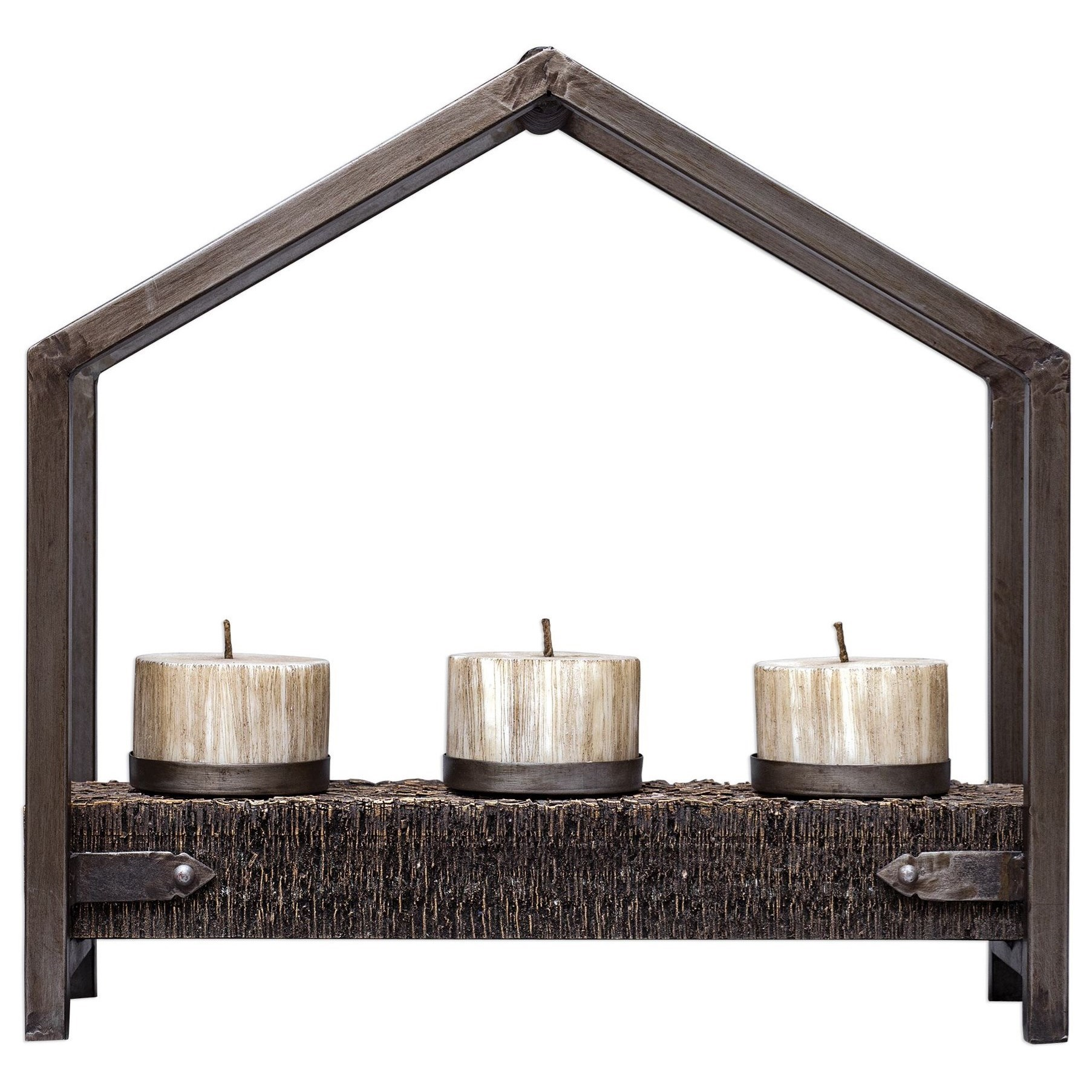 Accessories - Candle Holders Ellie Antique Bronze Candleholder by Uttermost at Furniture and ApplianceMart