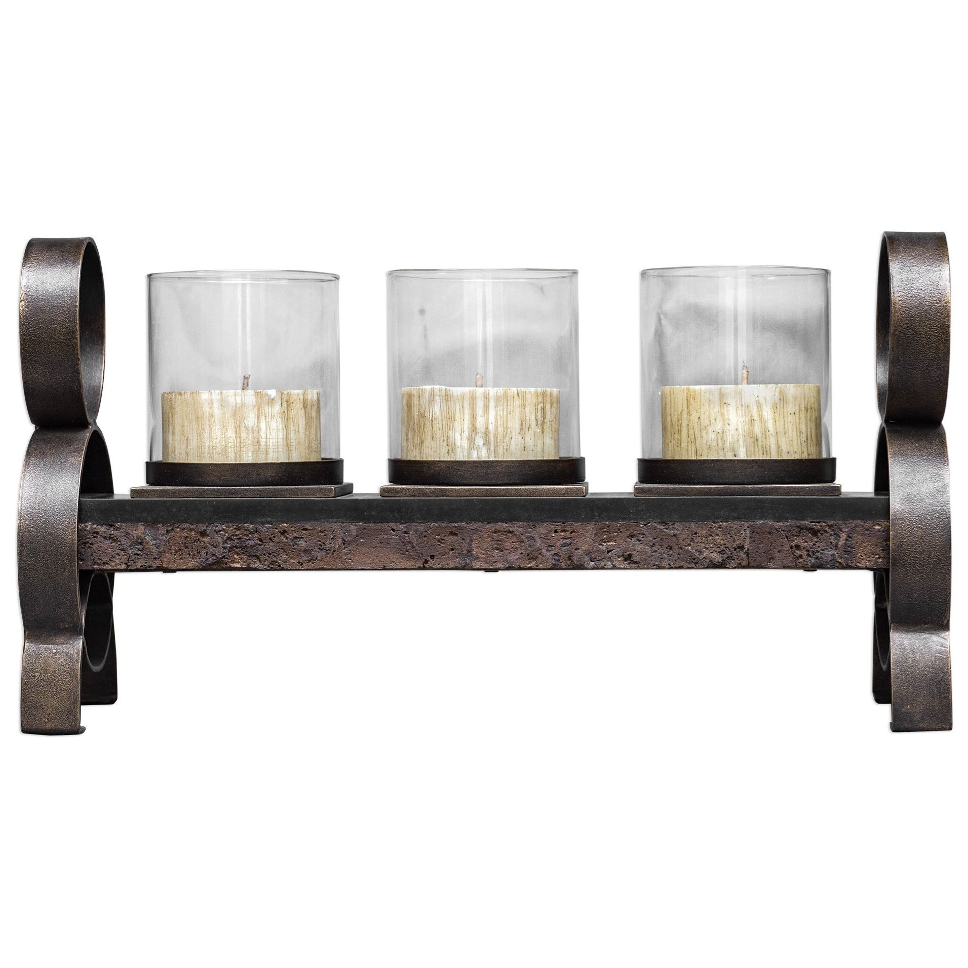 Accessories - Candle Holders Mila Antique Bronze Candleholder by Uttermost at Suburban Furniture
