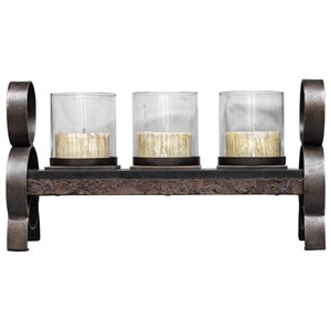 Mila Antique Bronze Candleholder