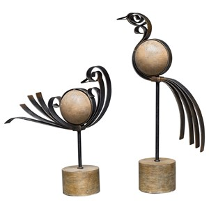 Uttermost Accessories Anvi Bird Sculptures, S/2