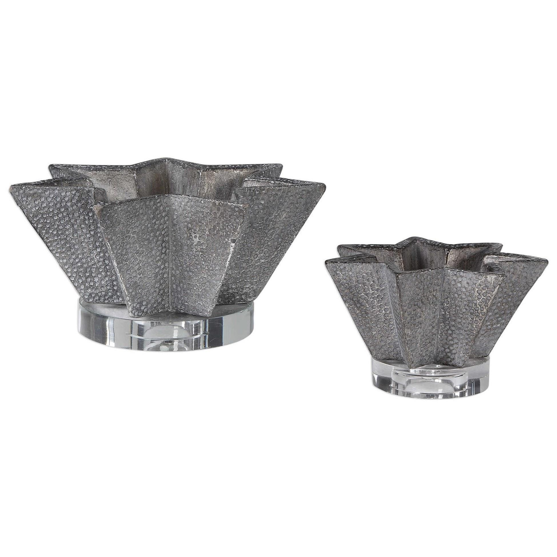 Accessories Kayden Star-Shaped Bowls (Set of 2) by Uttermost at Hudson's Furniture