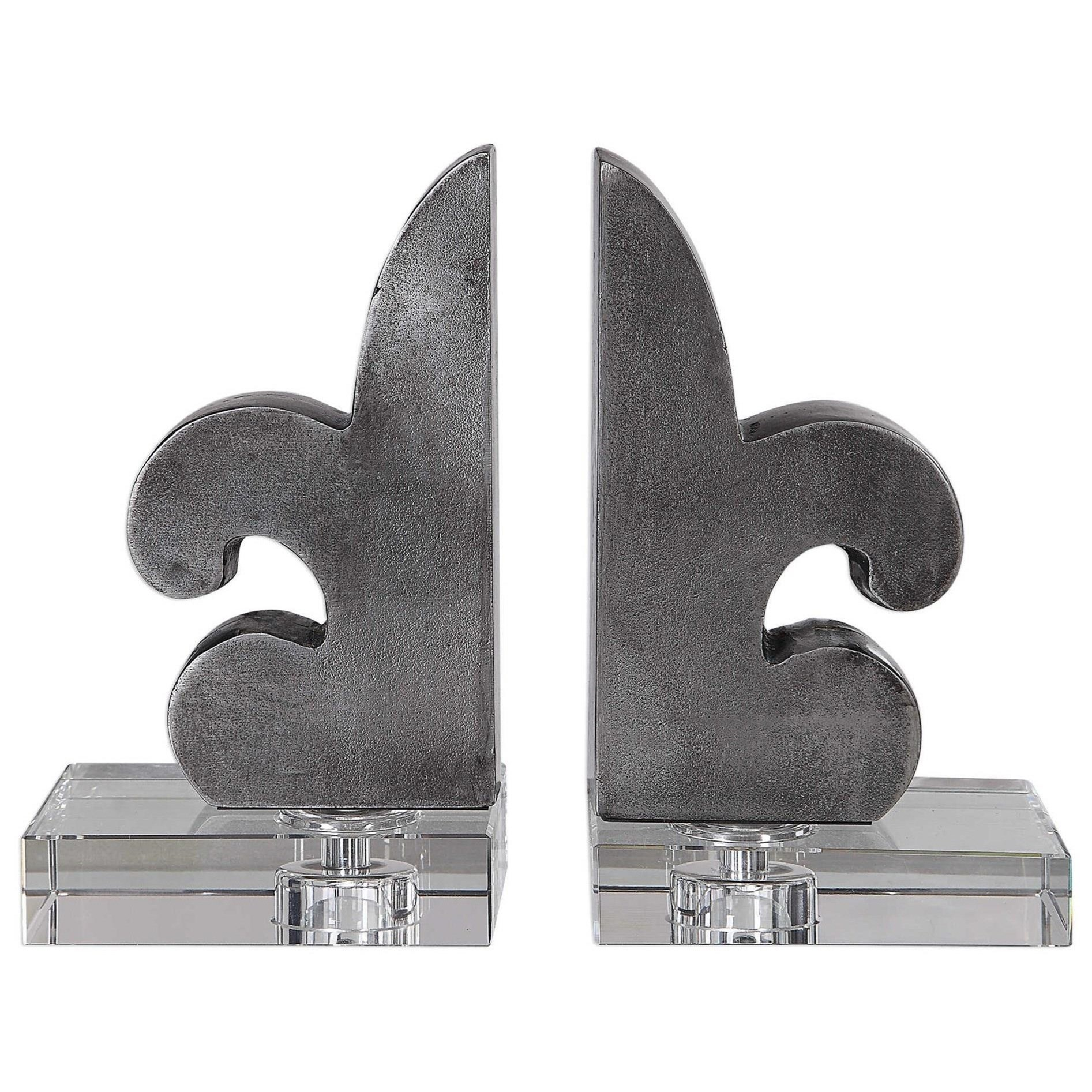 Accessories Lily Fleur-De-Lis Bookends Set/2 by Uttermost at Suburban Furniture