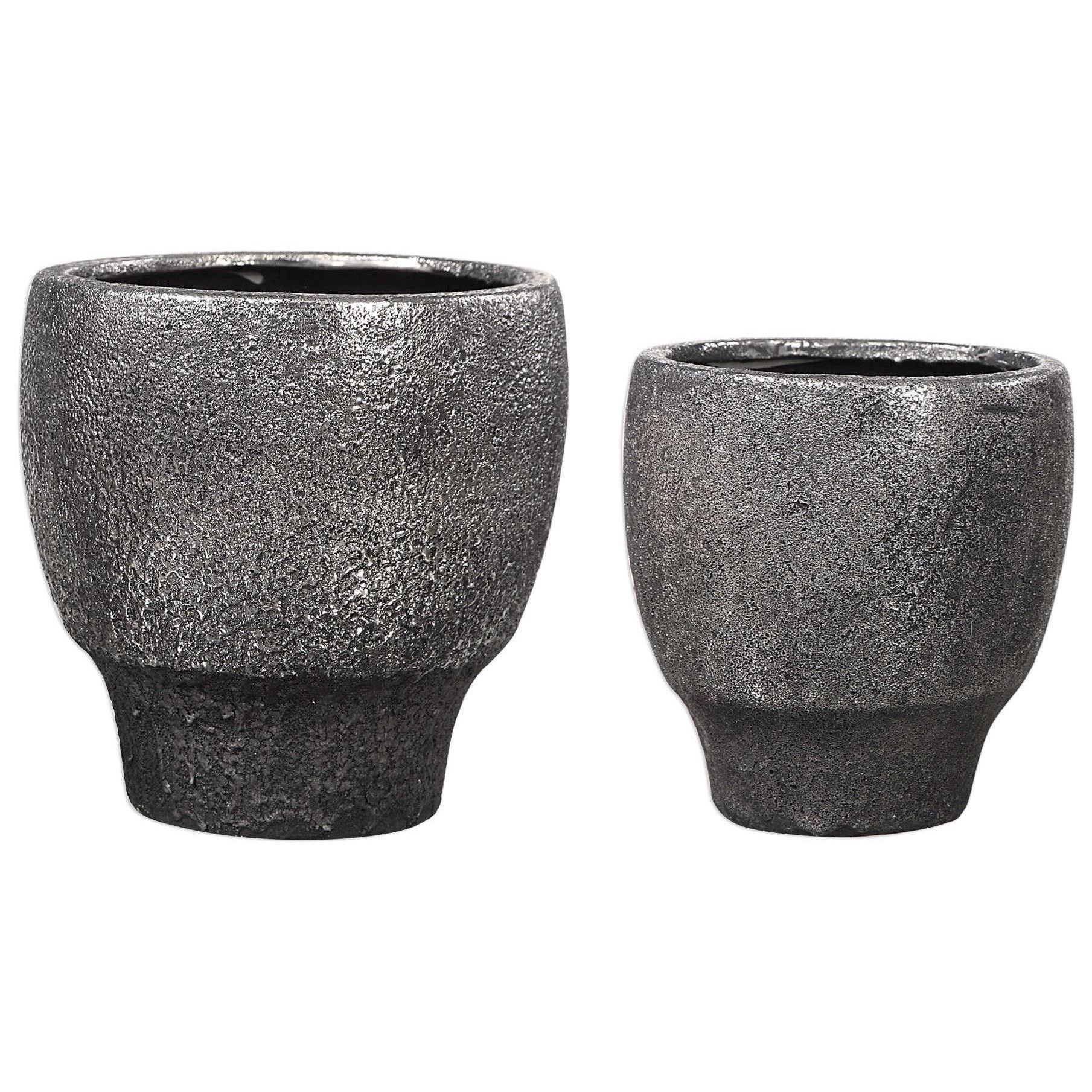 Jayda Lava Black Bowls (Set of 2)