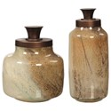 Uttermost Accessories Elia Glass Containers, S/2 - Item Number: 17519