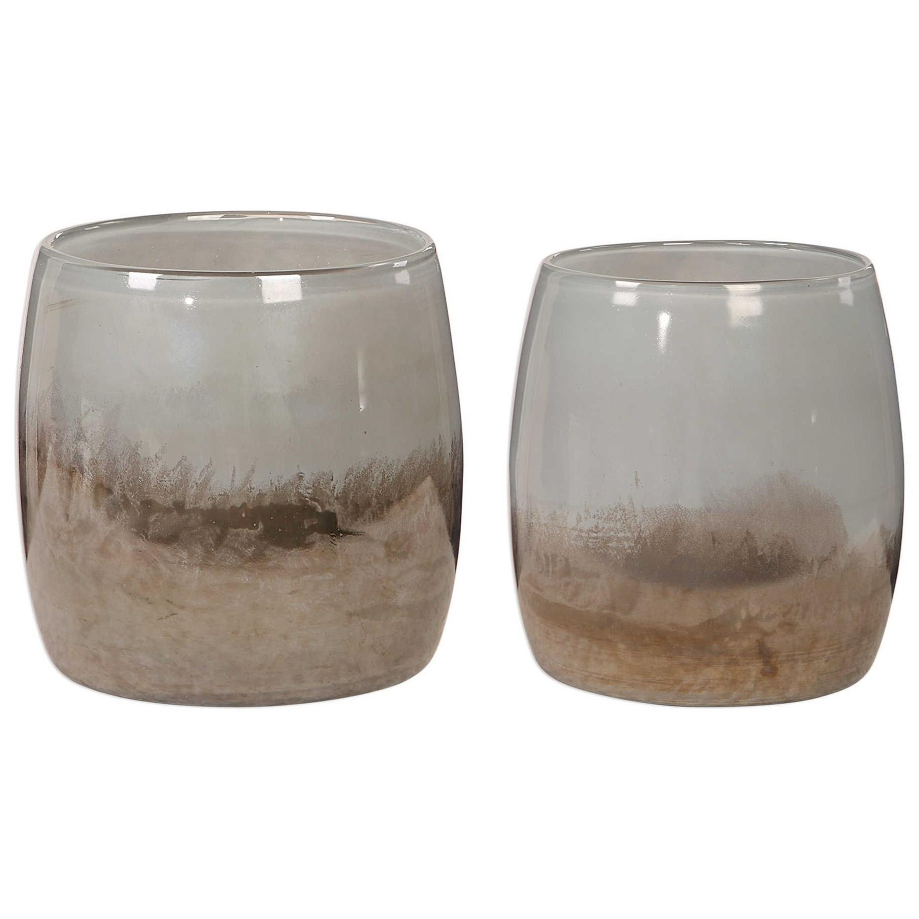 Accessories Tinley Blown Glass Bowls, S/2 by Uttermost at Dunk & Bright Furniture