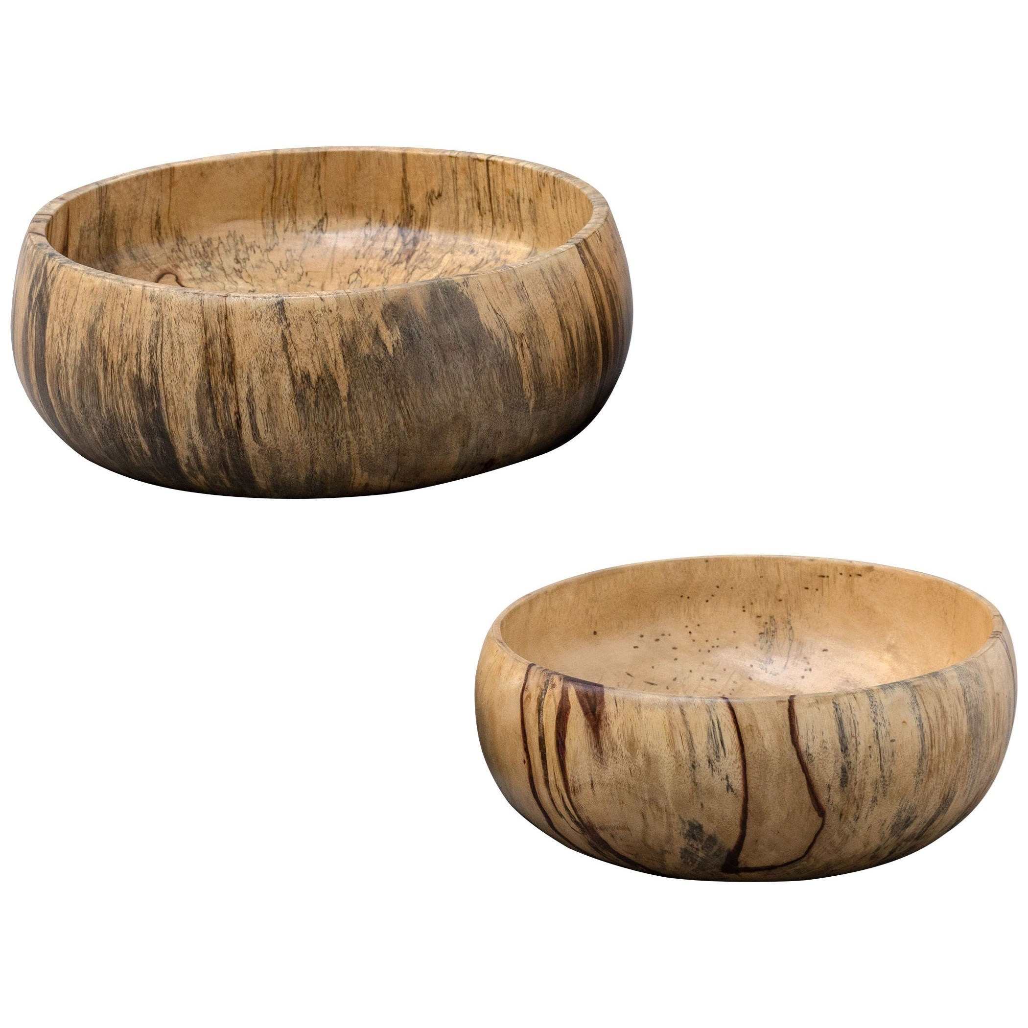 Tamarind Wood Bowls, S/2
