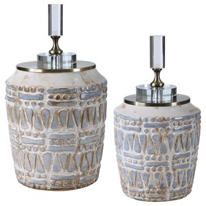 Lenape Ceramic Bottles, S/2